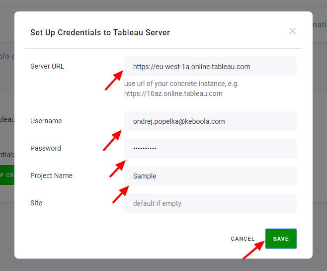 Screenshot - Tableau Server Authorization