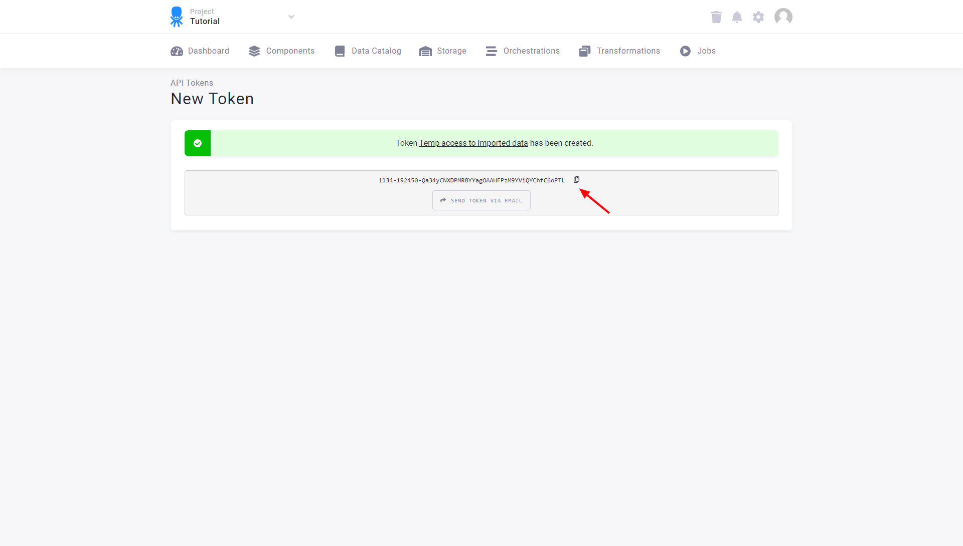 Screenshot - Access Tokens