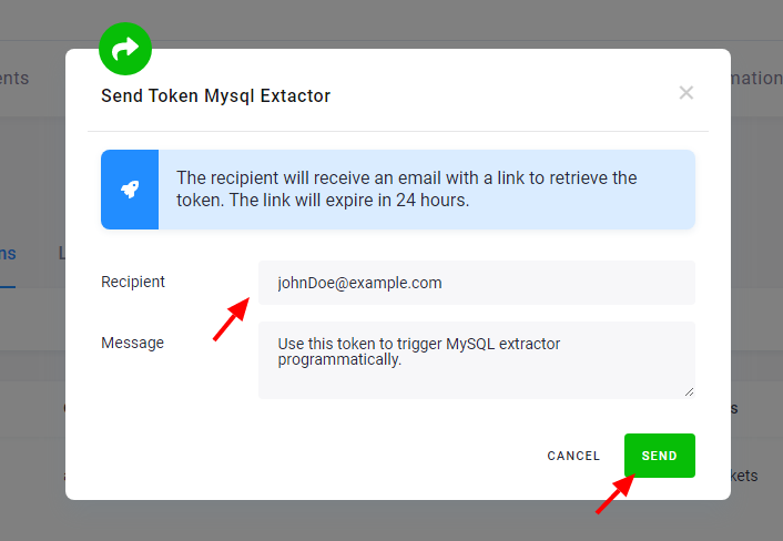 Screenshot - Send Token
