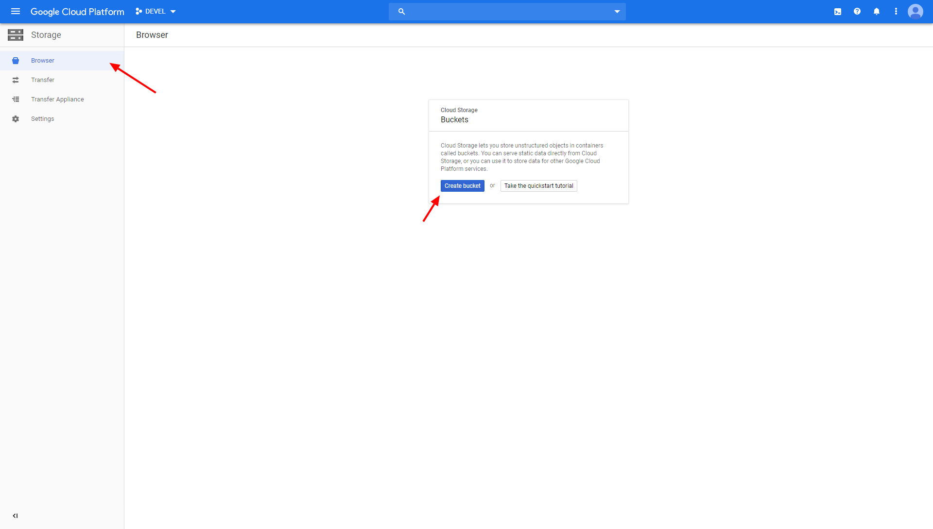 Screenshot - Google Cloud Platform