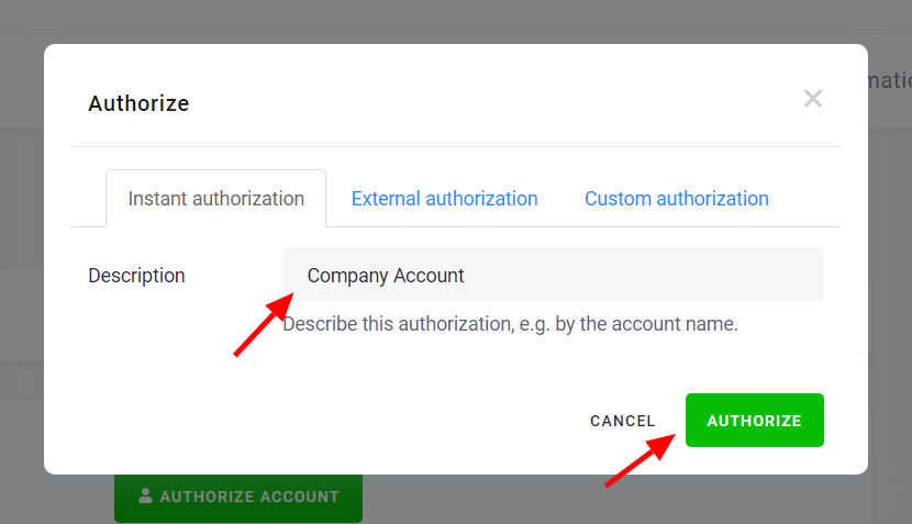 Google Drive Authorization Start