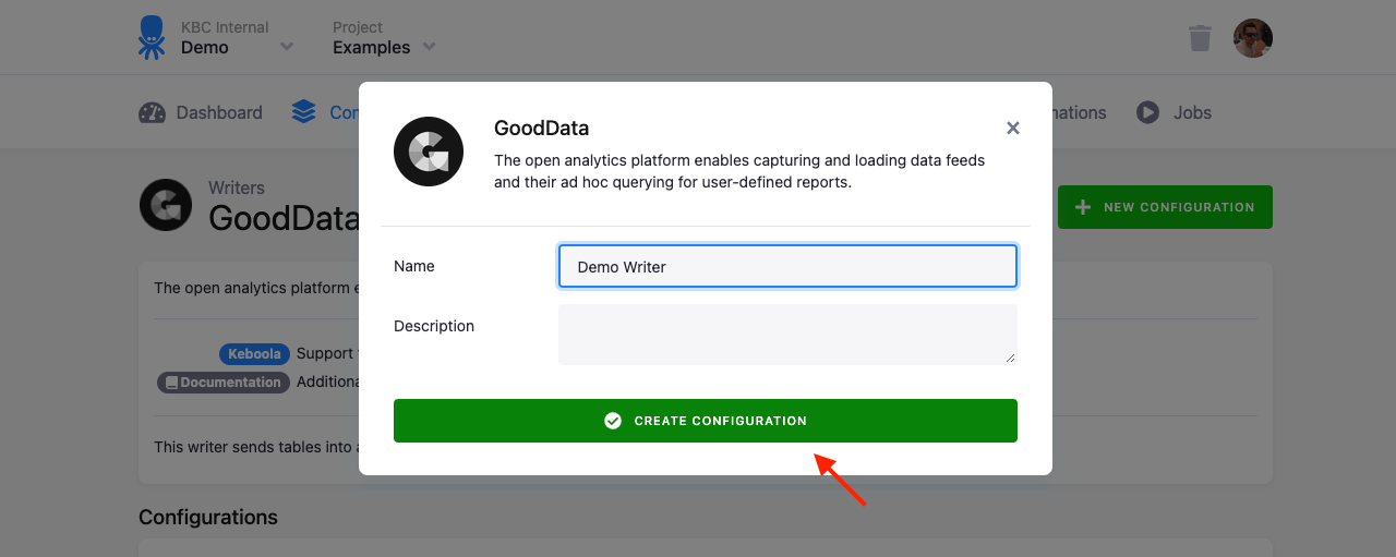 Screenshot - GoodData Writer Table Configuration Part 2
